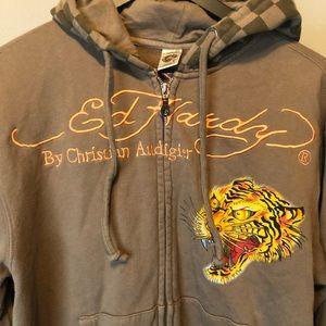 Ed Hardy Christian Audigier zipper up hoodie.